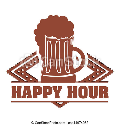 happy hour label over white background vector illustration rh canstockphoto com holiday happy hour clip art happy hour pictures clip art