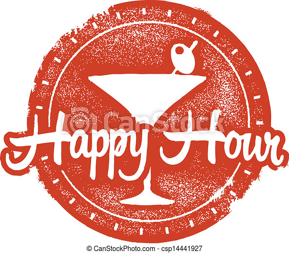 happy hour cokctail stamp bar and restaurant happy hour design rh canstockphoto com happy hour photos clip art work happy hour clipart