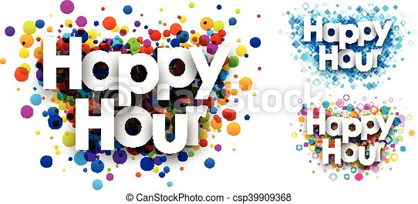 happy hour colour backgrounds happy hour colour backgrounds set rh canstockphoto com happy hour clip art free happy hour clip art black and white