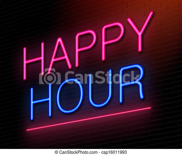 Happy hour concept. - csp16011993