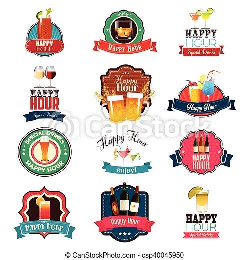 Happy Hour Design - csp40045950