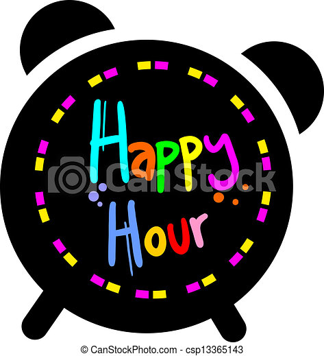 happy hour creative design of happy hour rh canstockphoto com happy hour photos clip art friday happy hour clip art