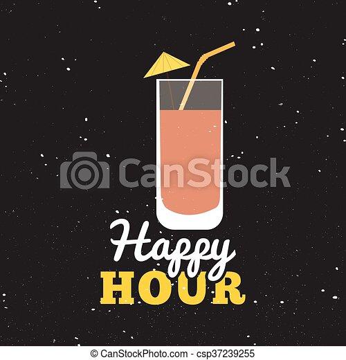Happy hour label - csp37239255