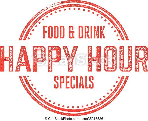 Happy Hour Menu Specials - csp35216536