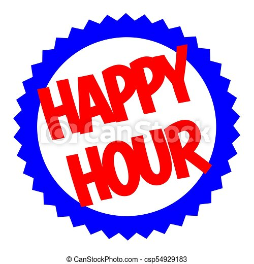 happy hour typographic stamp typographic sign badge or vector rh canstockphoto com work happy hour clipart happy hour pictures clip art