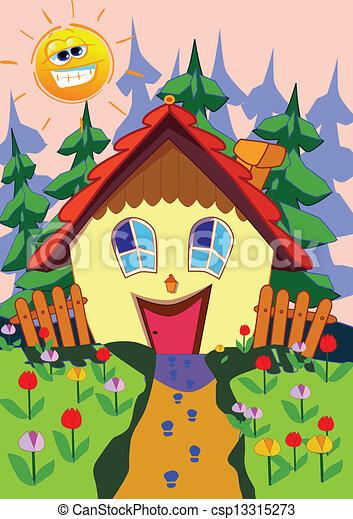 Happy House   Csp13315273