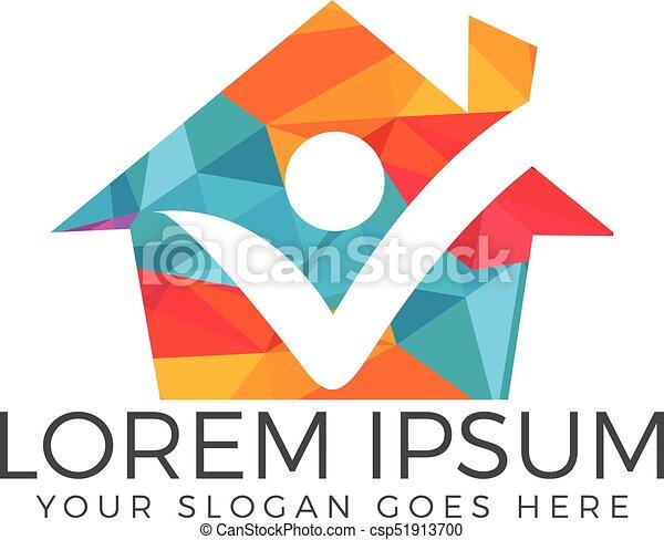 Happy Human Home Logo.   Csp51913700