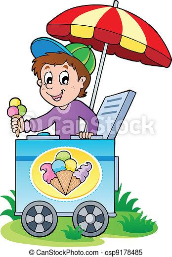 Happy ice cream man - csp9178485