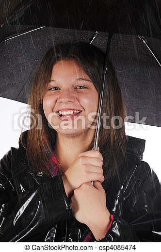 Happy in the Rain - csp4085474