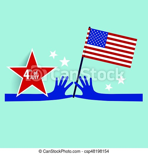 happy independence day card united states of america clipart