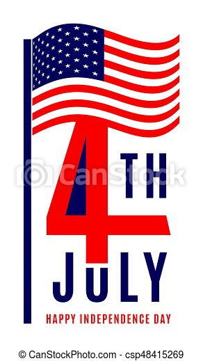 happy independence day july 4th usa memorial day flag clip rh canstockphoto com free animated independence day clipart independence day free clip art