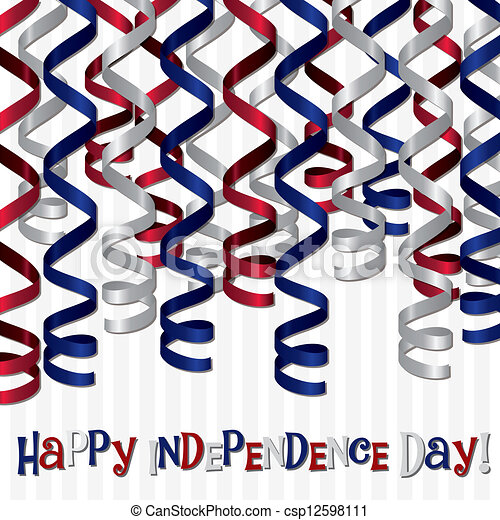 happy independence day happy independence day curling ribbon card rh canstockphoto com American Independence Day Clip Art Free independence day clipart images