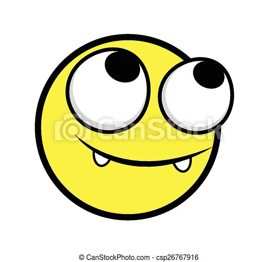 Happy Innocent Smiley Face - csp26767916