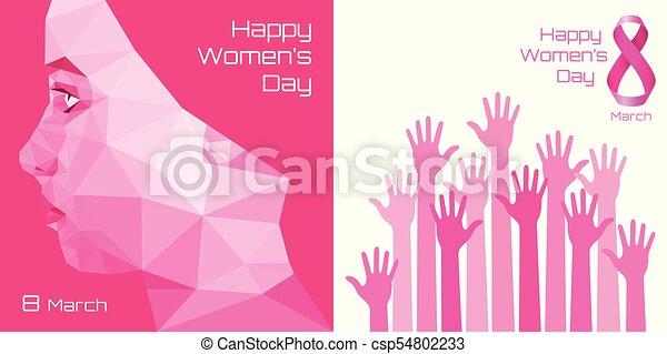 Happy international womens day greeting card design pink hands happy international womens day greeting card design pink hands background for 8 march day m4hsunfo