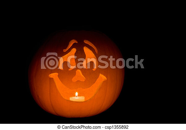 Happy Jack O Lantern Carved Pumpkin Jack O Lantern With Happy Face
