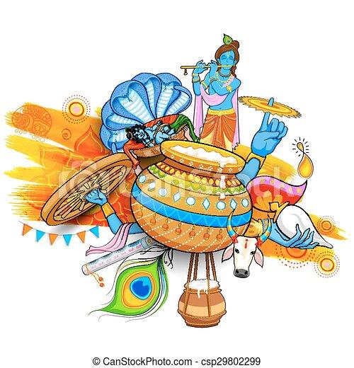 Happy Janmashtami - csp29802299