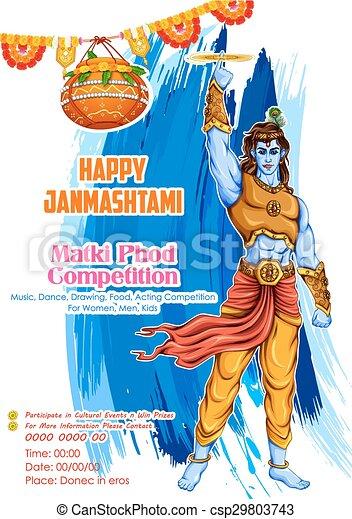 Happy Janmashtami - csp29803743