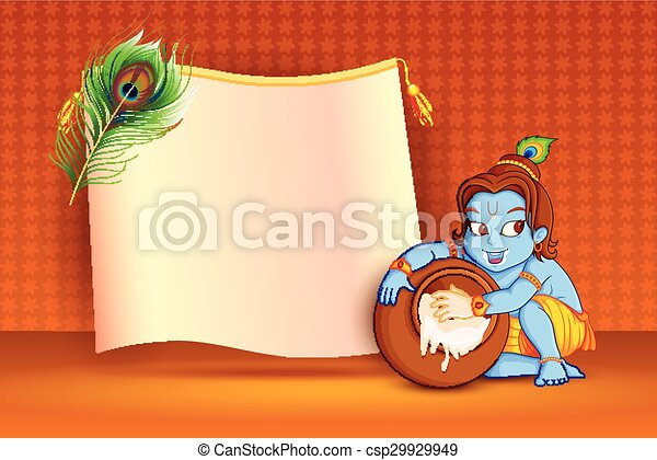 Happy Janmashtami wallpaper background - csp29929949