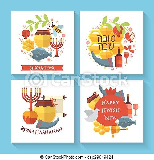 Happy jewish new year shana tova greeting cards happy jewish new happy jewish new year shana tova greeting cards csp29619424 m4hsunfo