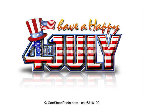happy july 4th white have a happy 4th july graphic with stock rh canstockphoto com free animated july 4th clipart free 4th of july clipart border