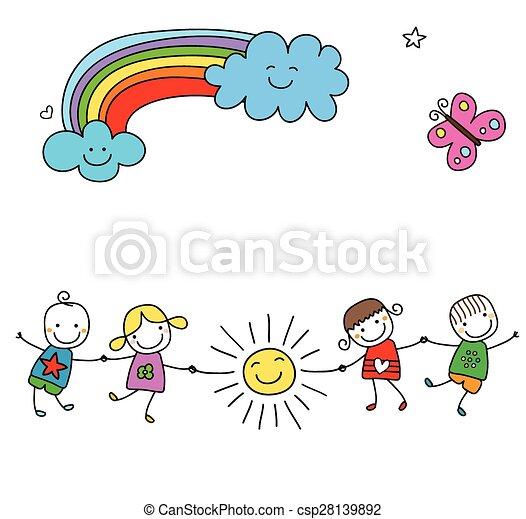 happy kids - csp28139892