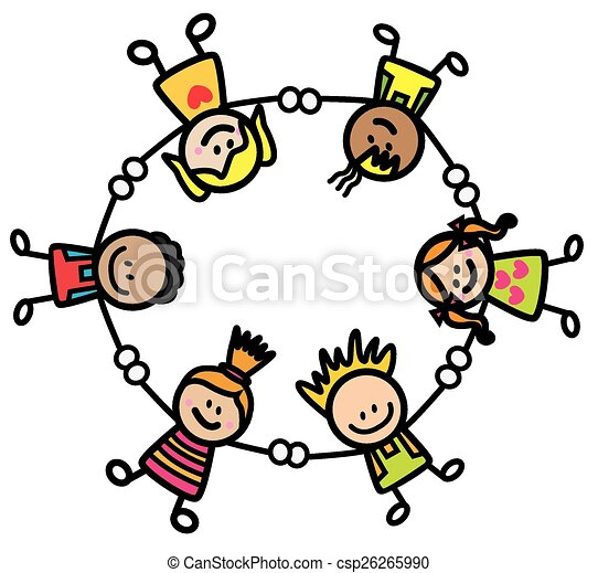 happy kids holding hand eps vectors search clip art illustration rh canstockphoto com