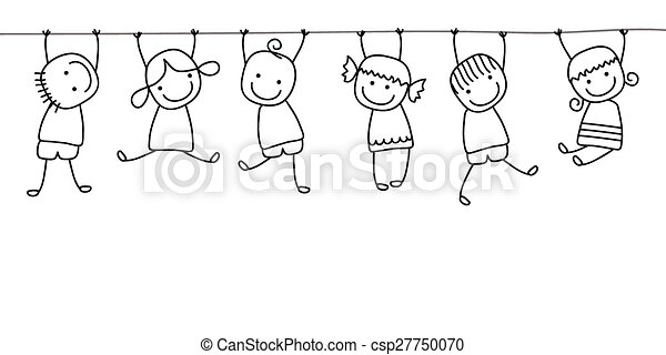 happy kids playing - csp27750070
