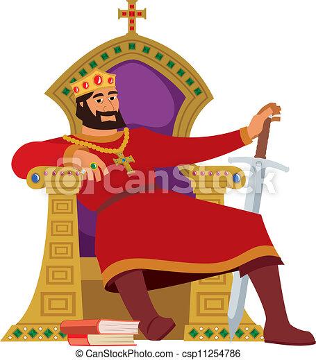 Happy King On White - csp11254786