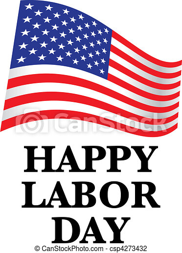 happy labor day us flag illustration vector illustration search rh canstockphoto com labor day clip art christian labor day clip art images
