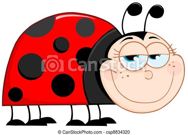 happy ladybug mascot cartoon character rh canstockphoto com Border Clip Art Ladybugs Black and White Ladybug Clip Art