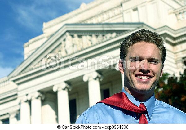 Happy lawyer - csp0354306