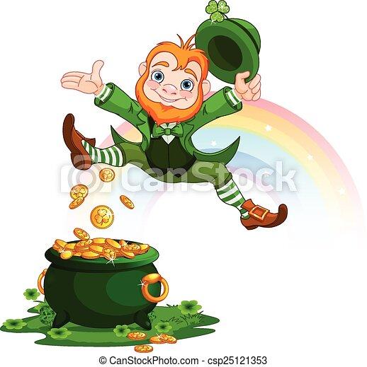 Happy Leprechaun - csp25121353