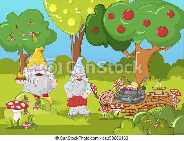 Happy leprechauns concept banner, cartoon style