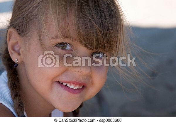 happy little girl - csp0088608