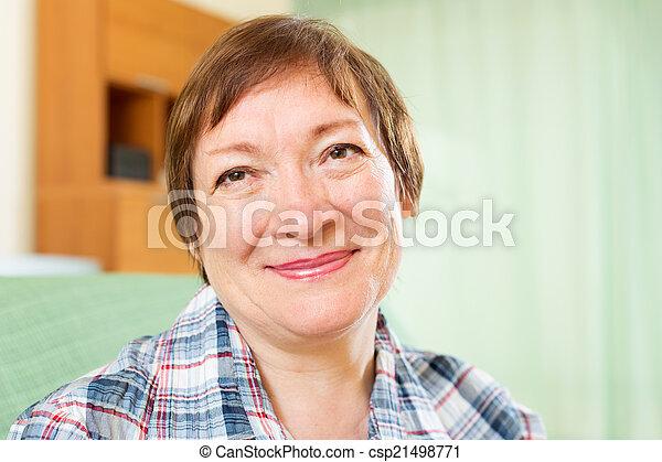 Happy mature woman   - csp21498771