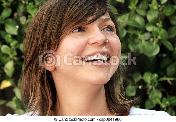 Happy mature woman - csp0041966