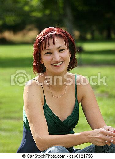 Happy mature woman - csp0121736