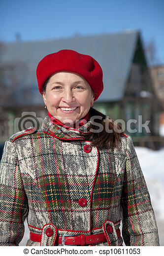 Happy  mature woman   - csp10611053