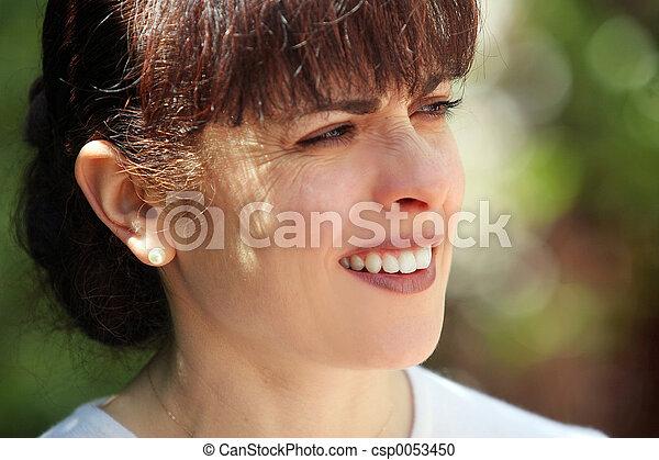Happy mature woman - csp0053450