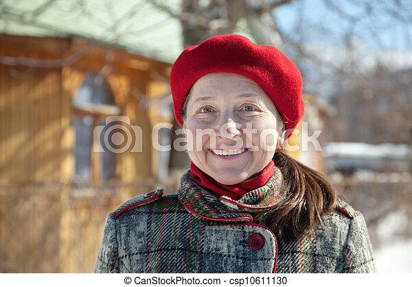 Happy  mature woman    - csp10611130