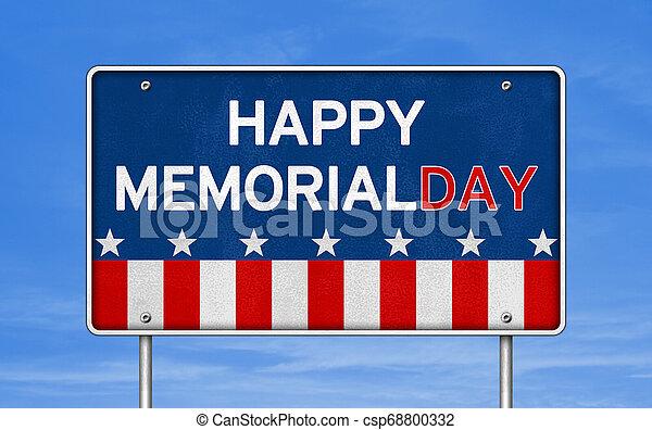 Happy Memorial Day - American federal holiday - csp68800332