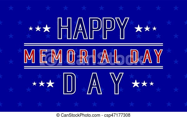 Happy memorial day background collection - csp47177308