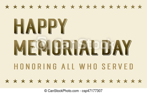 Happy memorial day background style - csp47177307