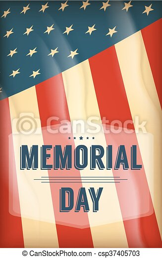 Happy Memorial Day background - csp37405703