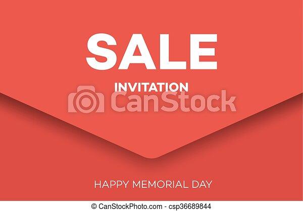 Happy memorial day greeting card sale invitation design m4hsunfo