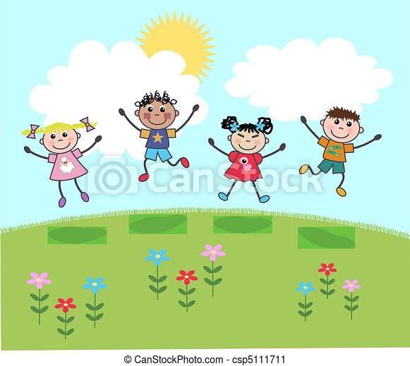 happy mixed kids - csp5111711