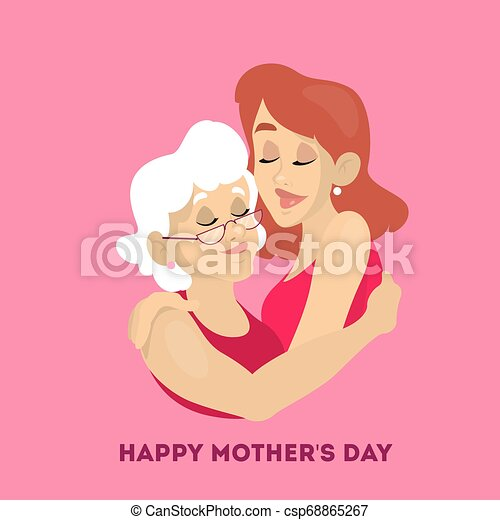 Happy mother day greeting card. Beautiful poster - csp68865267