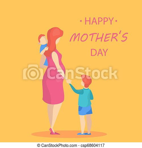 Happy mother day greeting card. Beautiful poster - csp68604117
