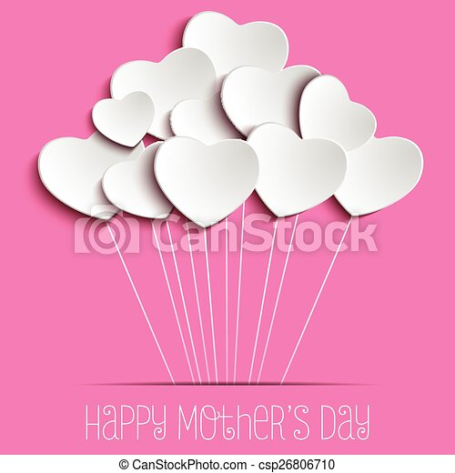 Happy Mother Day Heart Background - csp26806710
