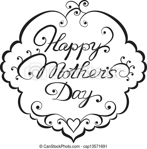 Happy mother' day lettering - csp13571691